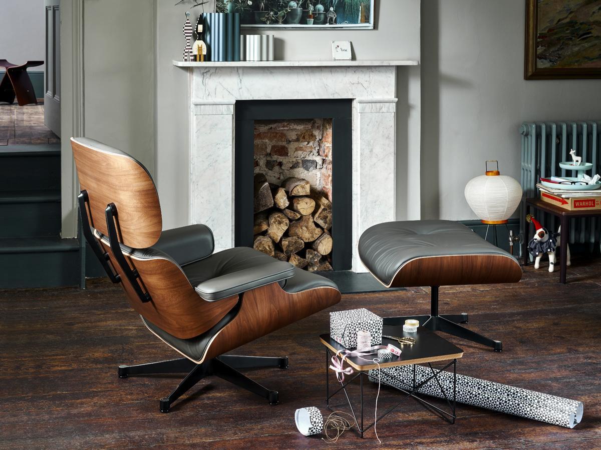 vitra lounge chair santos palisander snow 84 cm original height