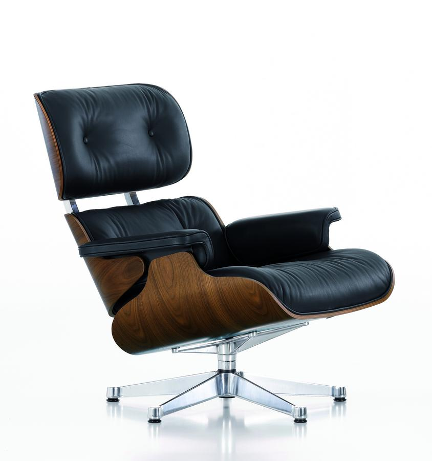 vitra lounge chair walnut with black pigmentation nero