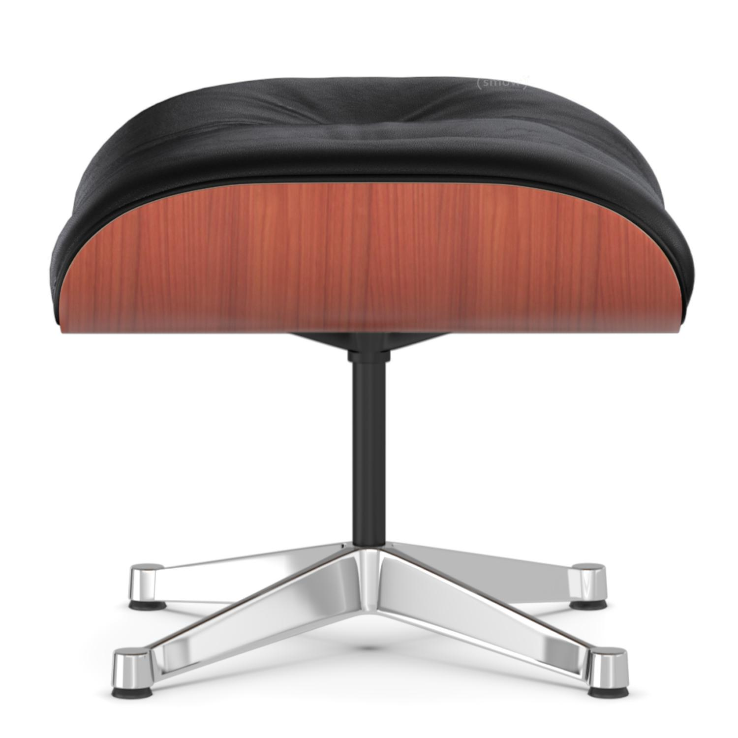vitra lounge chair ottoman cherry nero aluminium chrome. Black Bedroom Furniture Sets. Home Design Ideas