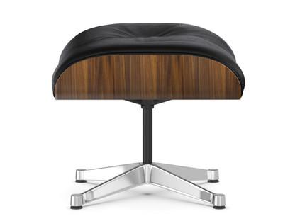 Lounge Chair Ottoman Walnut with black pigmentation|Nero|Aluminium chrome-plated