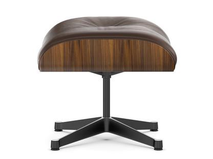 Lounge Chair Ottoman Walnut with black pigmentation|Brown|Aluminium polished, sides black