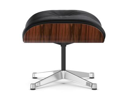 Lounge Chair Ottoman Santos Palisander Nero Aluminium chrome-plated