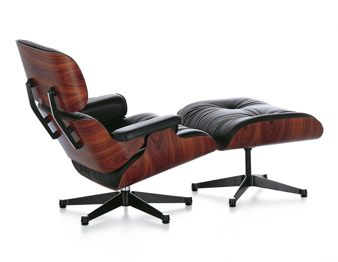 Vitra lounge chair ottoman by charles ray eames 1956 for Eames vitra replica