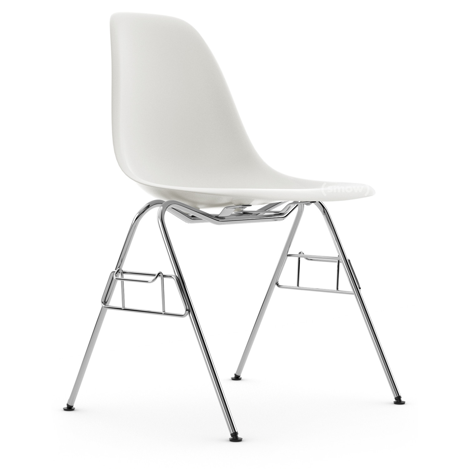 vitra eames plastic side chair dss white without upholstery without upholstery with linking. Black Bedroom Furniture Sets. Home Design Ideas