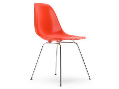 Superior Eames Plastic Side Chair DSX Red (poppy Red)|Without Upholstery|Without  Upholstery