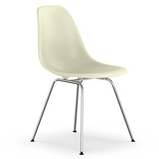 Eames Plastic Side Chair DSX Cream|Without Upholstery|Without  Upholstery|Lower Version