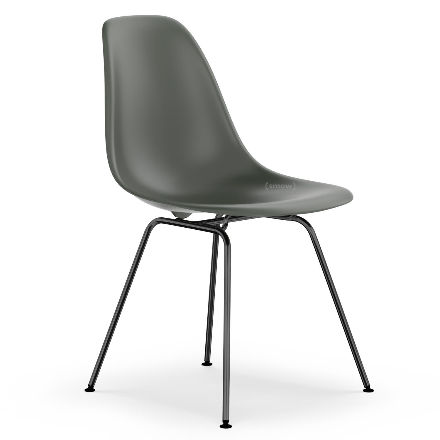 vitra eames plastic side chair dsx basalt grey without. Black Bedroom Furniture Sets. Home Design Ideas
