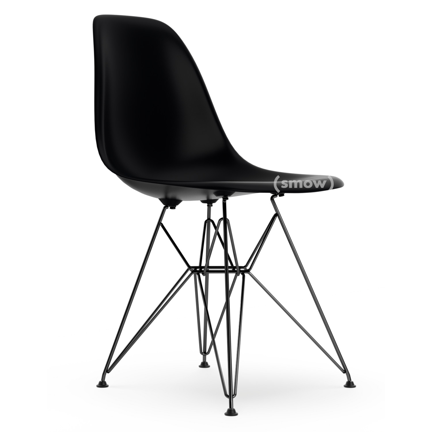 Eames Plastic Side Chair Dsr Basic Dark Without Upholstery Standard Version