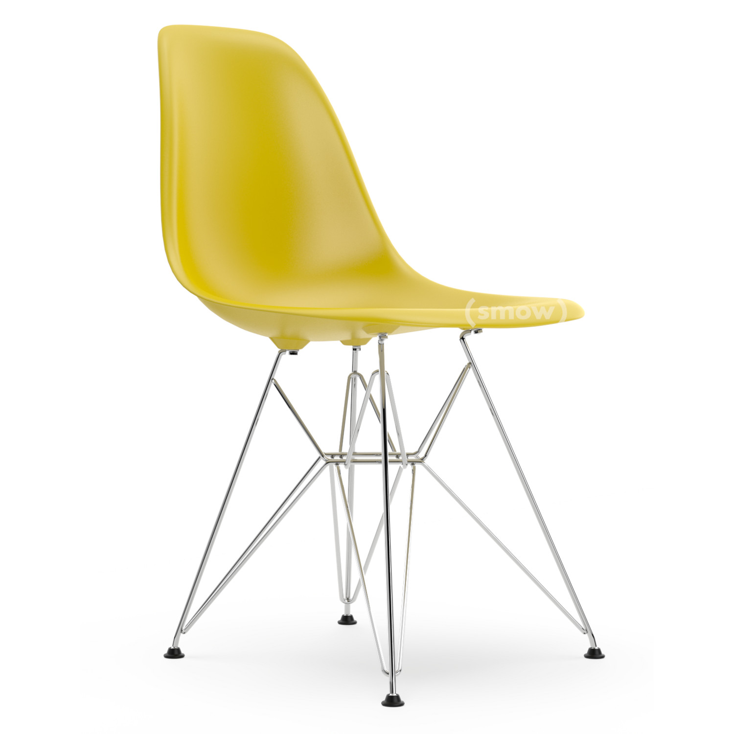 vitra eames plastic side chair dsr mustard without. Black Bedroom Furniture Sets. Home Design Ideas
