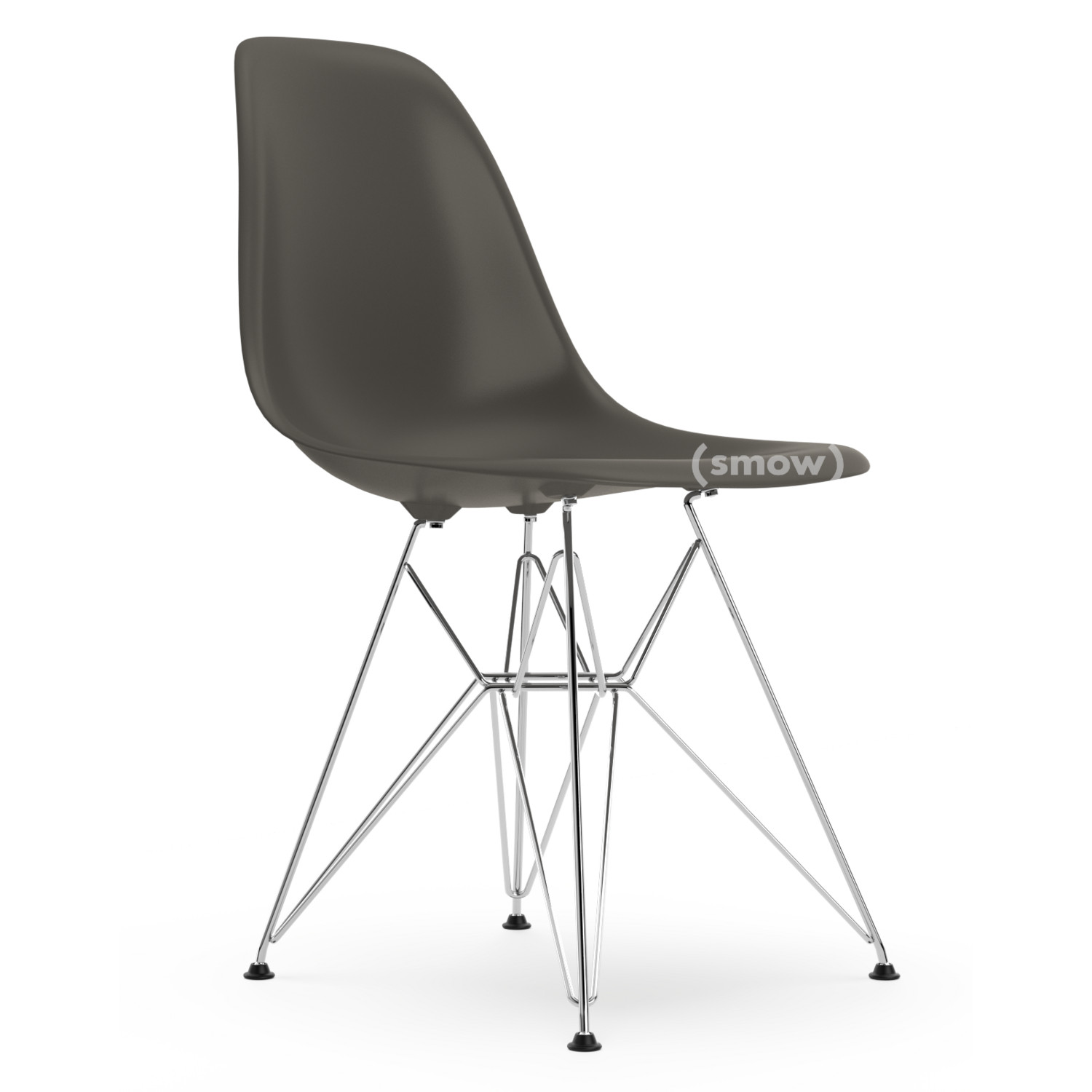 vitra eames plastic side chair dsr basalt grey without upholstery without upholstery. Black Bedroom Furniture Sets. Home Design Ideas