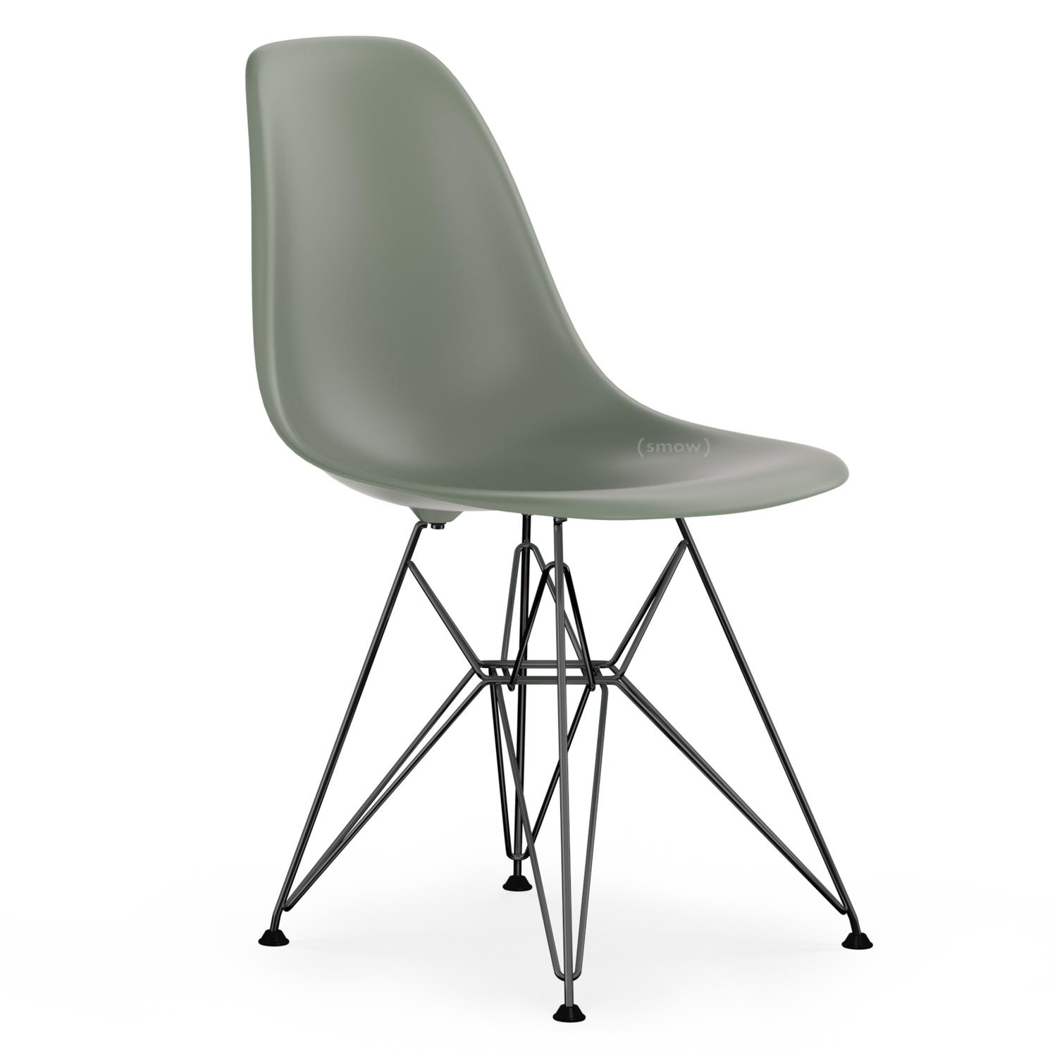 vitra eames plastic side chair dsr moss grey without upholstery without upholstery standard. Black Bedroom Furniture Sets. Home Design Ideas