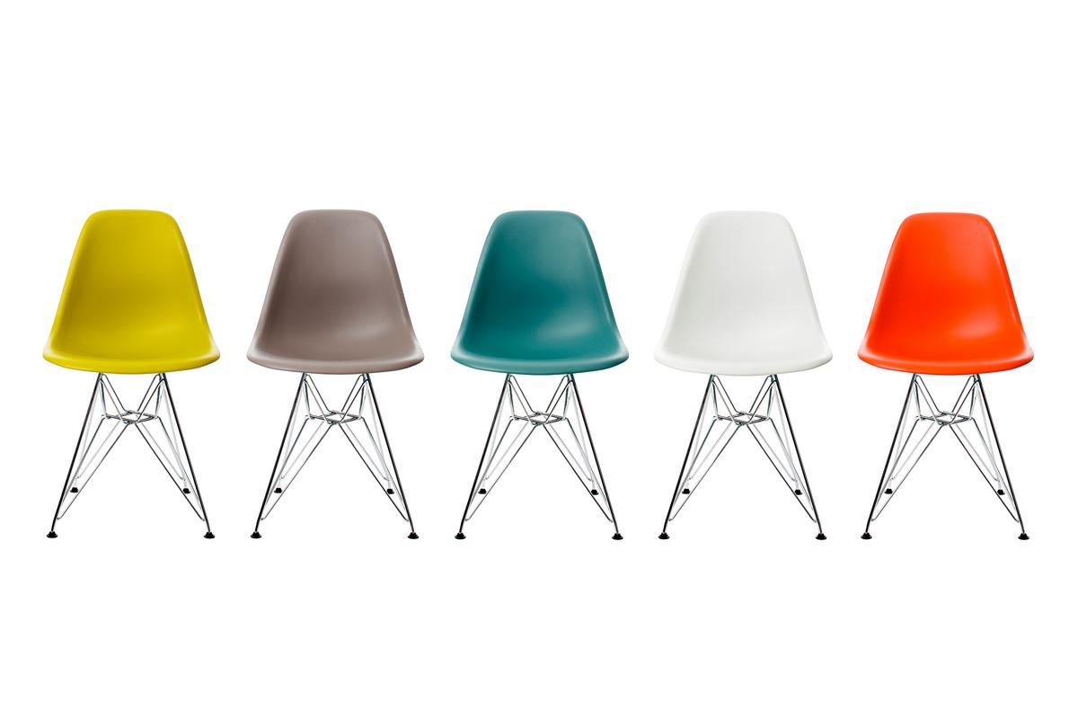 Vitra eames plastic side chair dsr by charles ray eames for Eames vitra replica