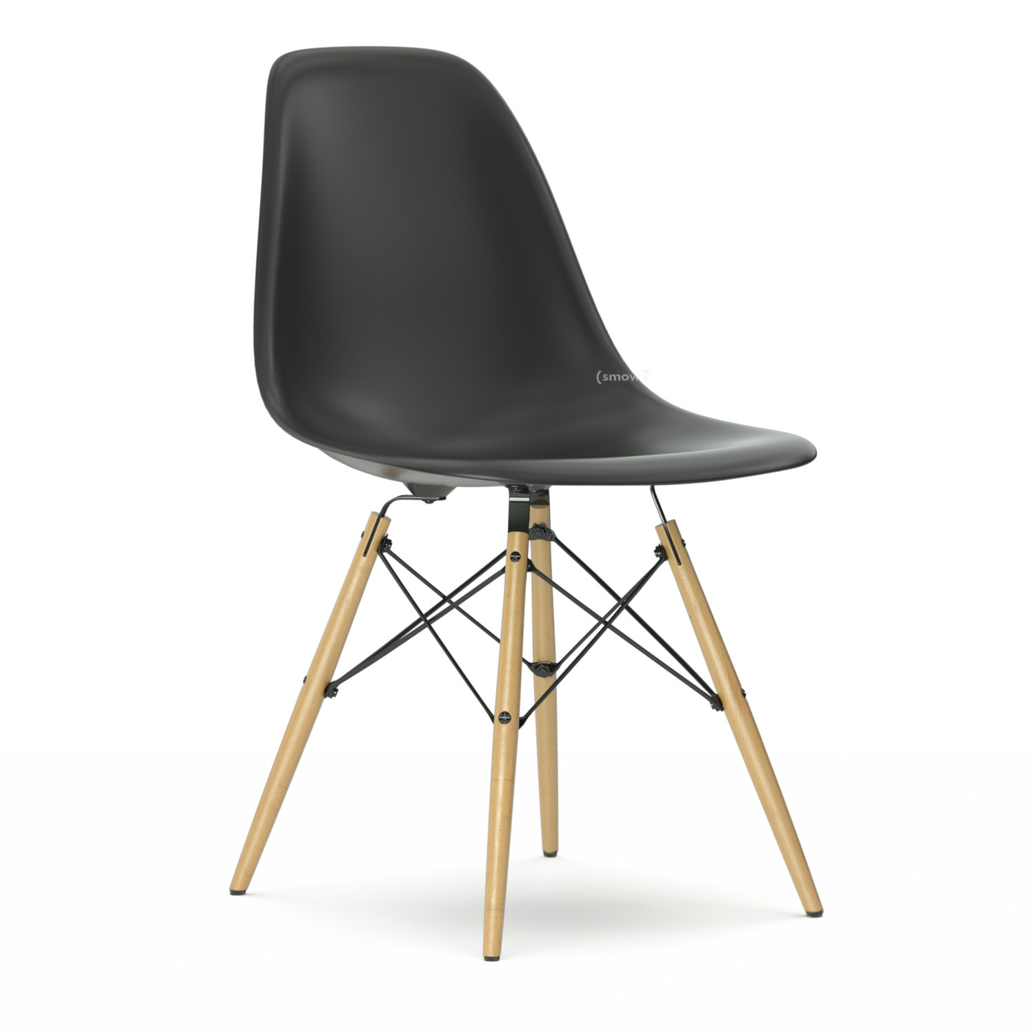 vitra eames plastic side chair dsw basic dark without. Black Bedroom Furniture Sets. Home Design Ideas