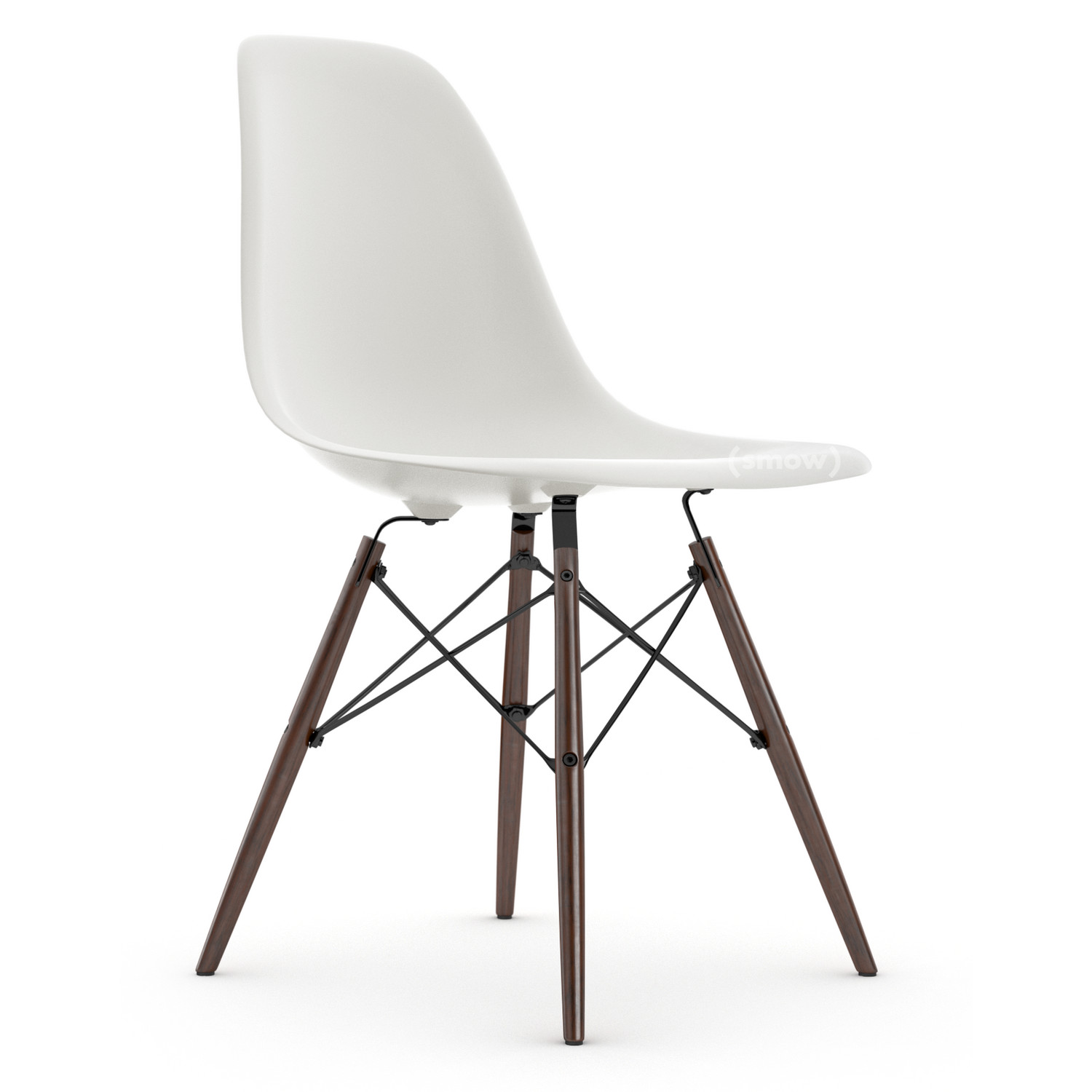Vitra Eames Plastic Side Chair Dsw White Without Upholstery