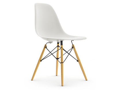 Eames Plastic Side Chair DSW White|Without Upholstery|Without  Upholstery|Standard Version