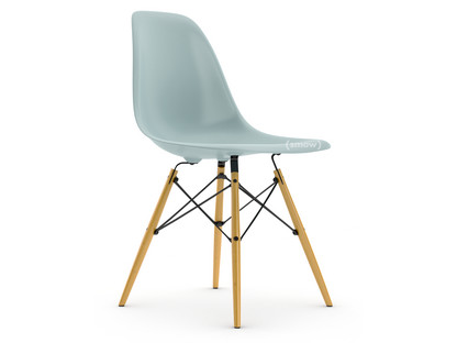 Eames Plastic Side Chair DSW Ice grey|Without upholstery|Without upholstery|Standard version - 43 cm|Yellowish maple