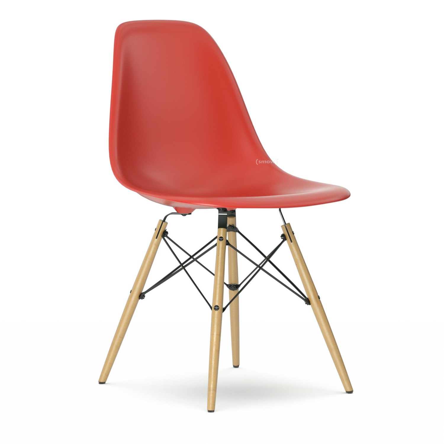 Vitra eames plastic side chair dsw by charles ray eames for Chaise design dsw blanche