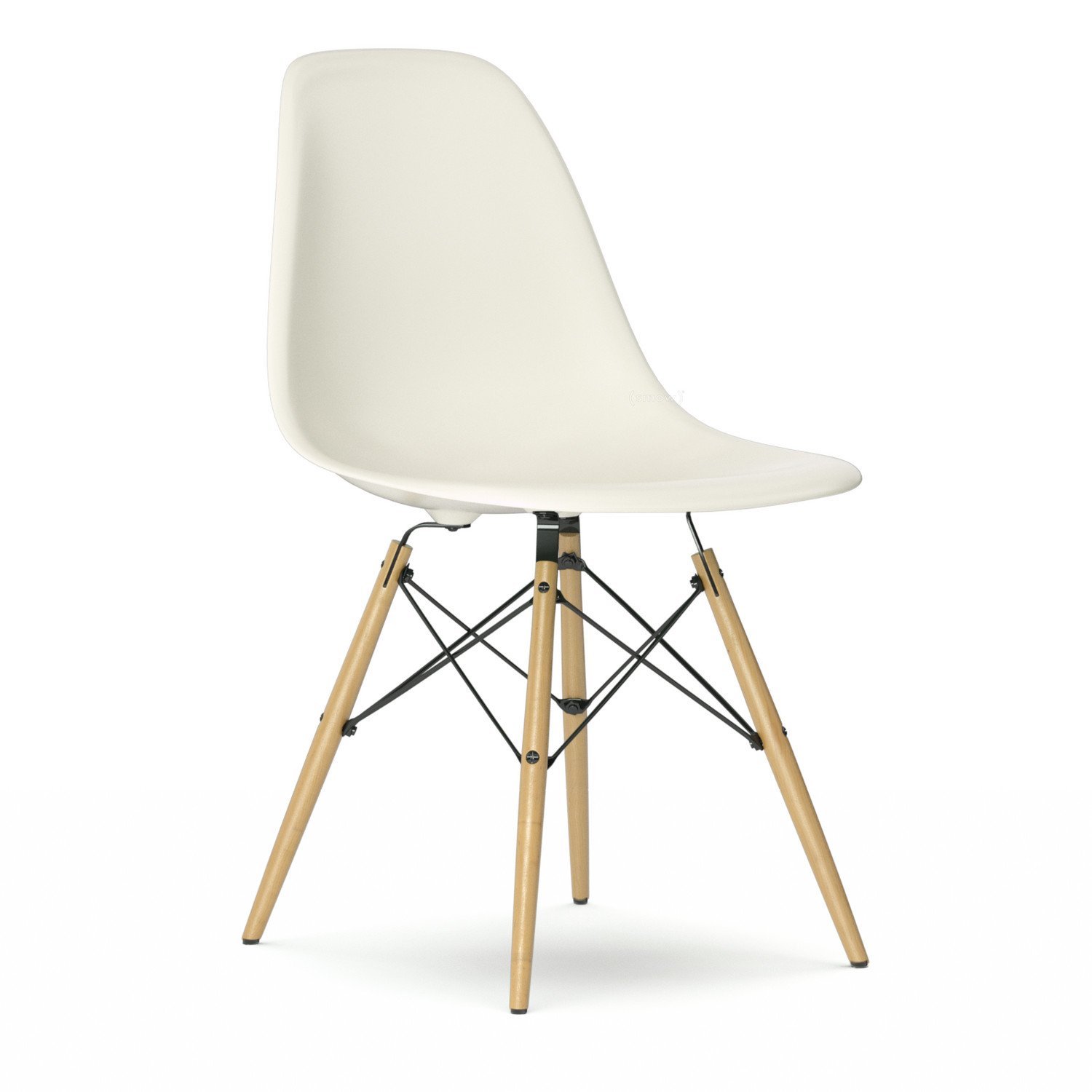 vitra eames plastic side chair dsw cream without upholstery without