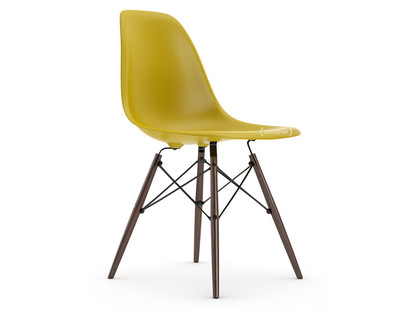 Eames Plastic Side Chair DSW Mustard|Without upholstery|Without upholstery|Standard version - 43 cm|Dark maple