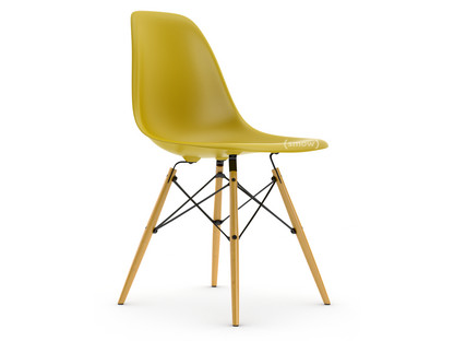 Eames Plastic Side Chair DSW Mustard|Without upholstery|Without upholstery|Standard version - 43 cm|Yellowish maple