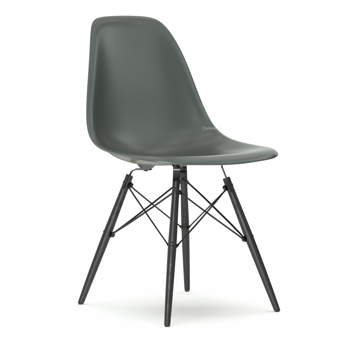 vitra eames plastic side chair dsw moss grey without. Black Bedroom Furniture Sets. Home Design Ideas