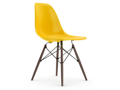Eames Plastic Side Chair DSW Sunlight|Without upholstery|Without upholstery|Standard version - 43 cm|Dark maple