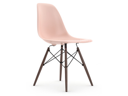 Eames Plastic Side Chair DSW Pale rose|Without upholstery|Without upholstery|Standard version - 43 cm|Dark maple