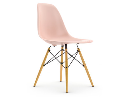 Eames Plastic Side Chair DSW Pale rose Without upholstery Without upholstery Standard version - 43 cm Yellowish maple