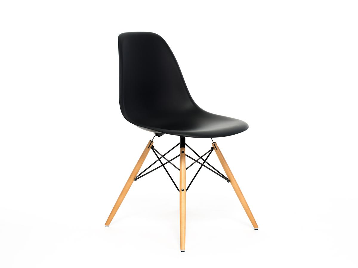 vitra eames plastic side chair dsw basic dark without upholstery without upholstery lower. Black Bedroom Furniture Sets. Home Design Ideas