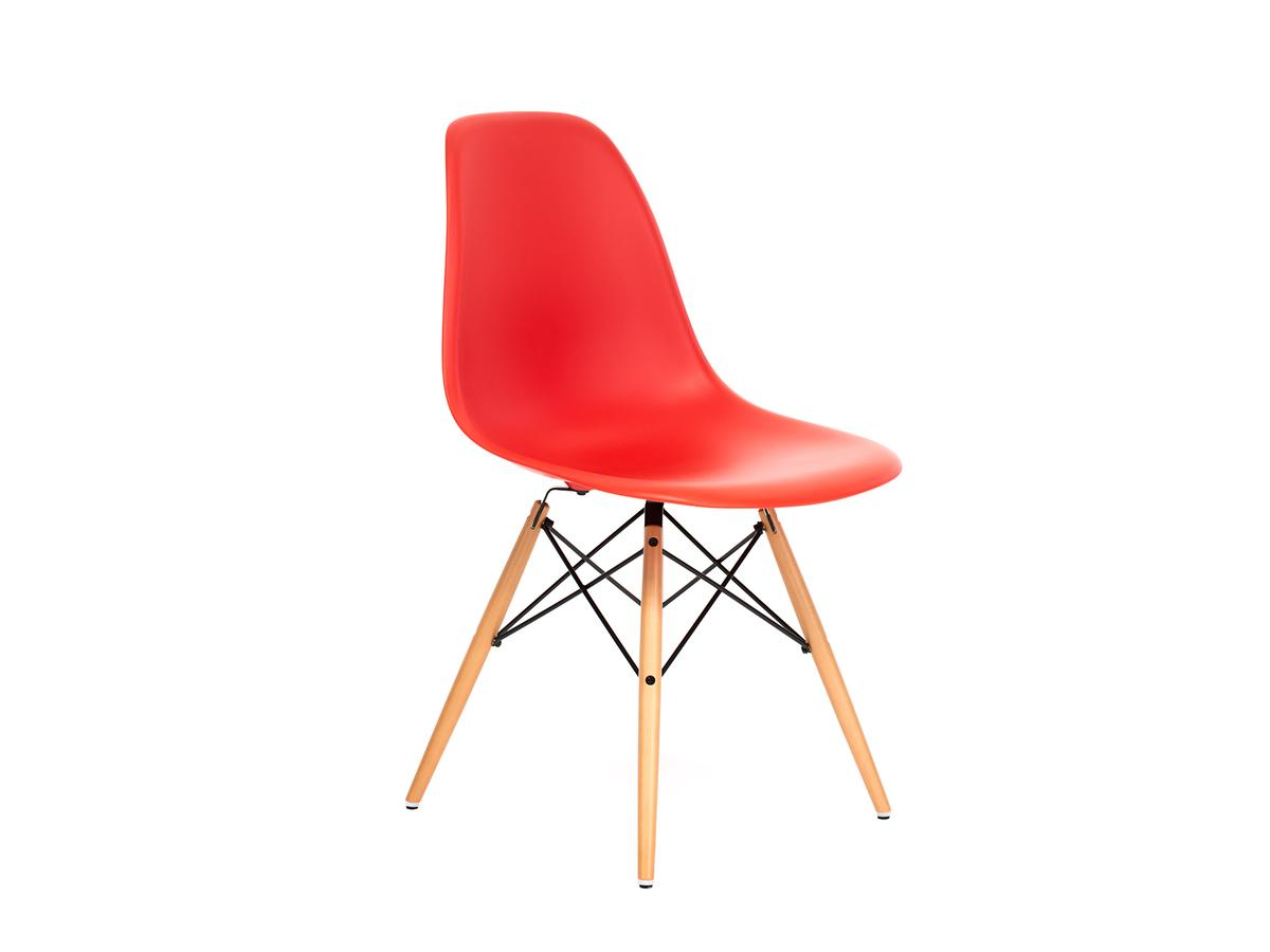 vitra eames plastic side chair dsw red poppy red without. Black Bedroom Furniture Sets. Home Design Ideas