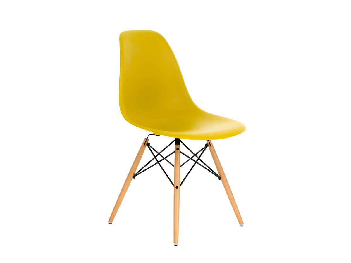 vitra eames plastic side chair dsw mustard without upholstery original seat height 41 cm. Black Bedroom Furniture Sets. Home Design Ideas