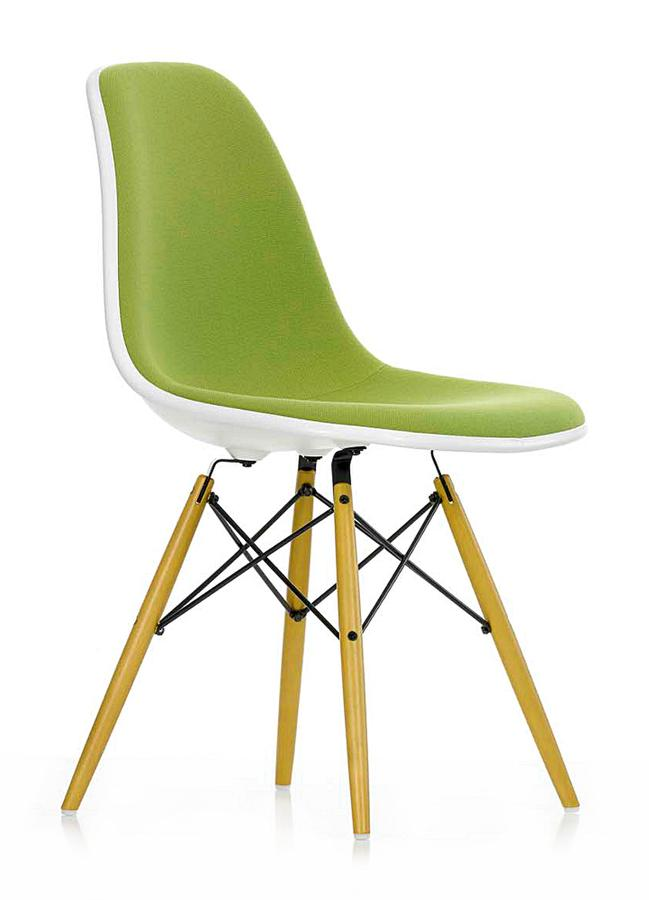 vitra eames plastic side chair dsw mustard without. Black Bedroom Furniture Sets. Home Design Ideas