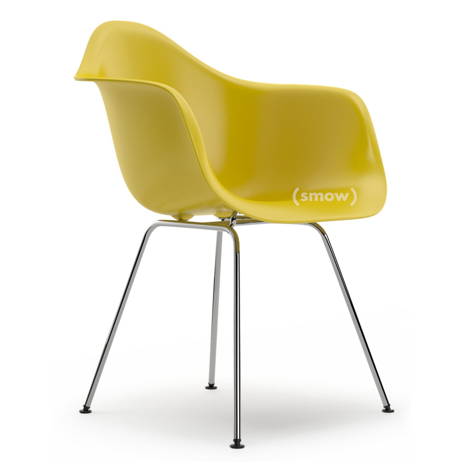 Eames Plastic Armchair DAX Mustard|Without Upholstery|Without  Upholstery|Standard Version   New