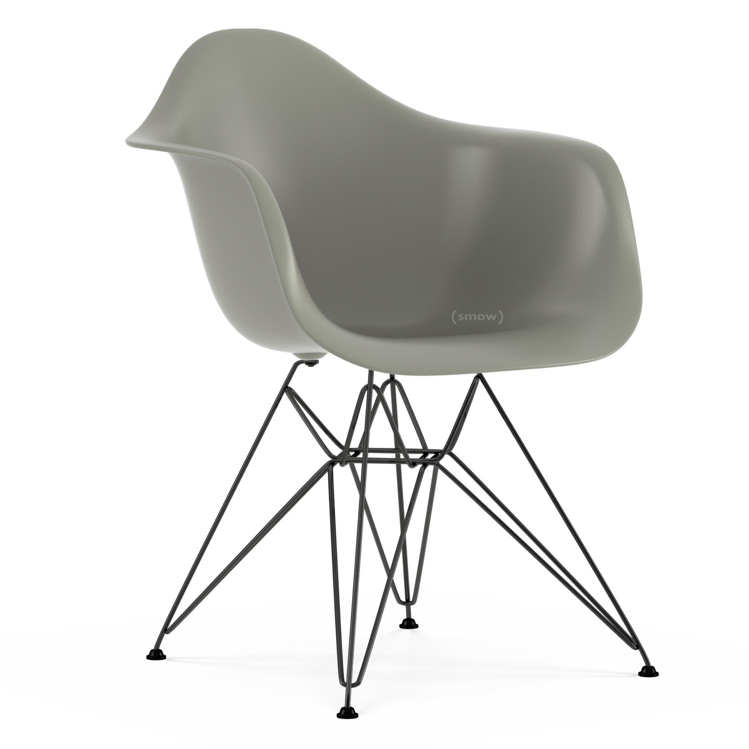 Eames Plastic Armchair DAR Mauve Grey|Without Upholstery|Without  Upholstery|Standard Version