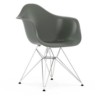 Eames Plastic Armchair DAR Basalt Grey|Without Upholstery|Without  Upholstery|Standard Version