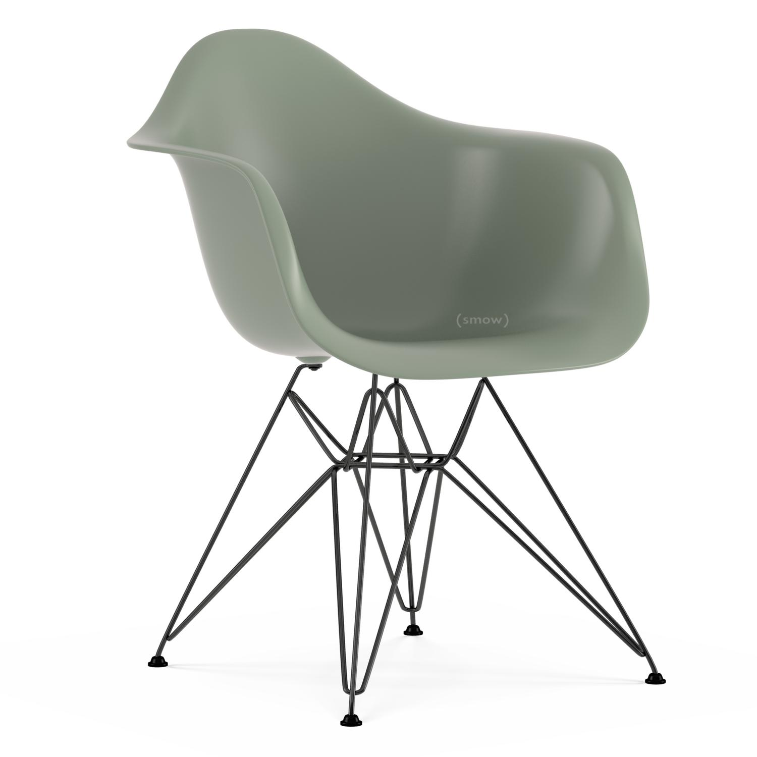 vitra eames plastic armchair dar moss grey new without upholstery. Black Bedroom Furniture Sets. Home Design Ideas