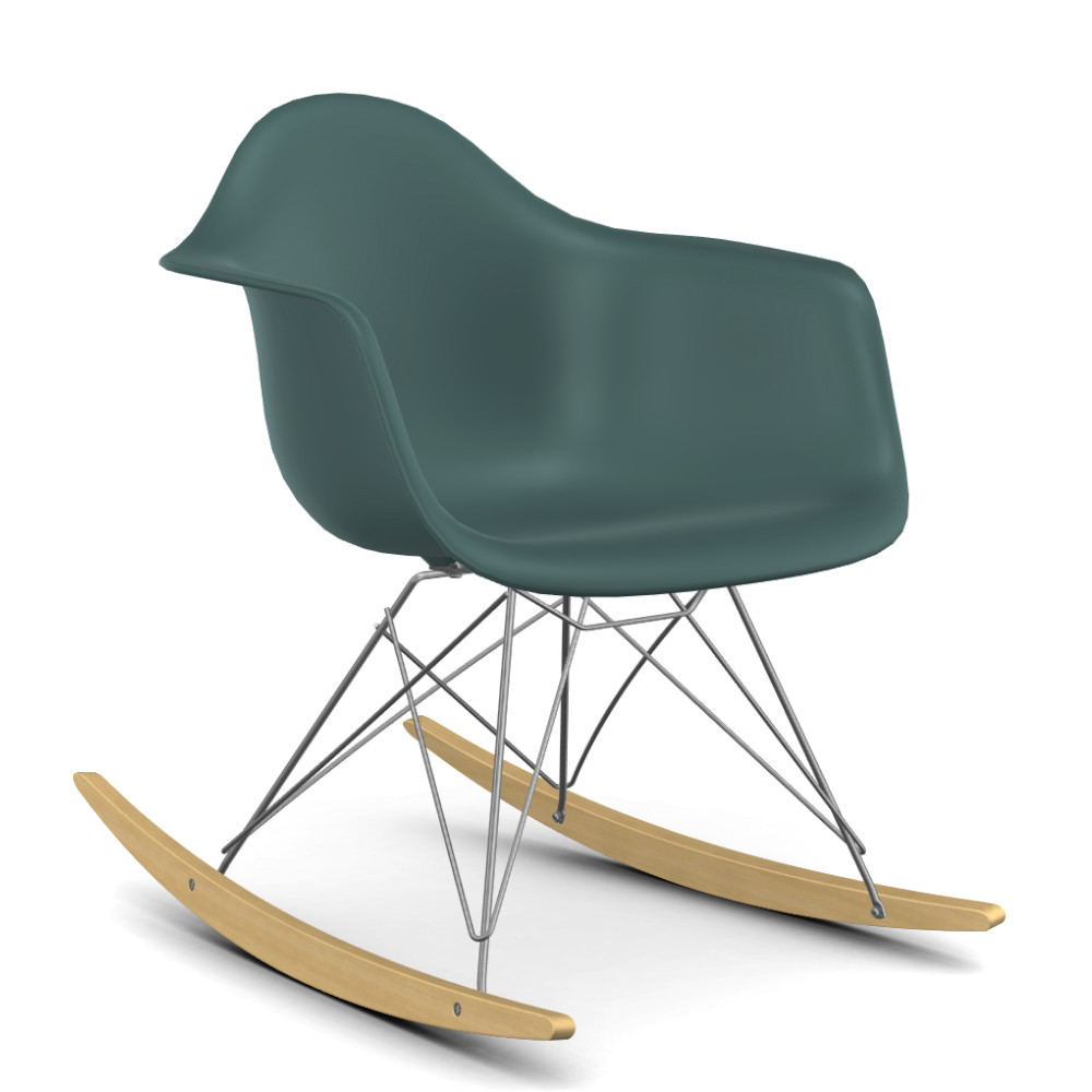 vitra eames plastic armchair rar ocean chrome plated. Black Bedroom Furniture Sets. Home Design Ideas