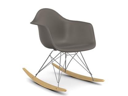 Eames Plastic Armchair RAR Mauve Grey|Chrome Plated|Yellowish Maple