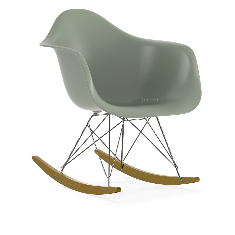 Vitra Eames Plastic Armchair RAR, Moss grey, Chrome-plated ... ddad3332321e