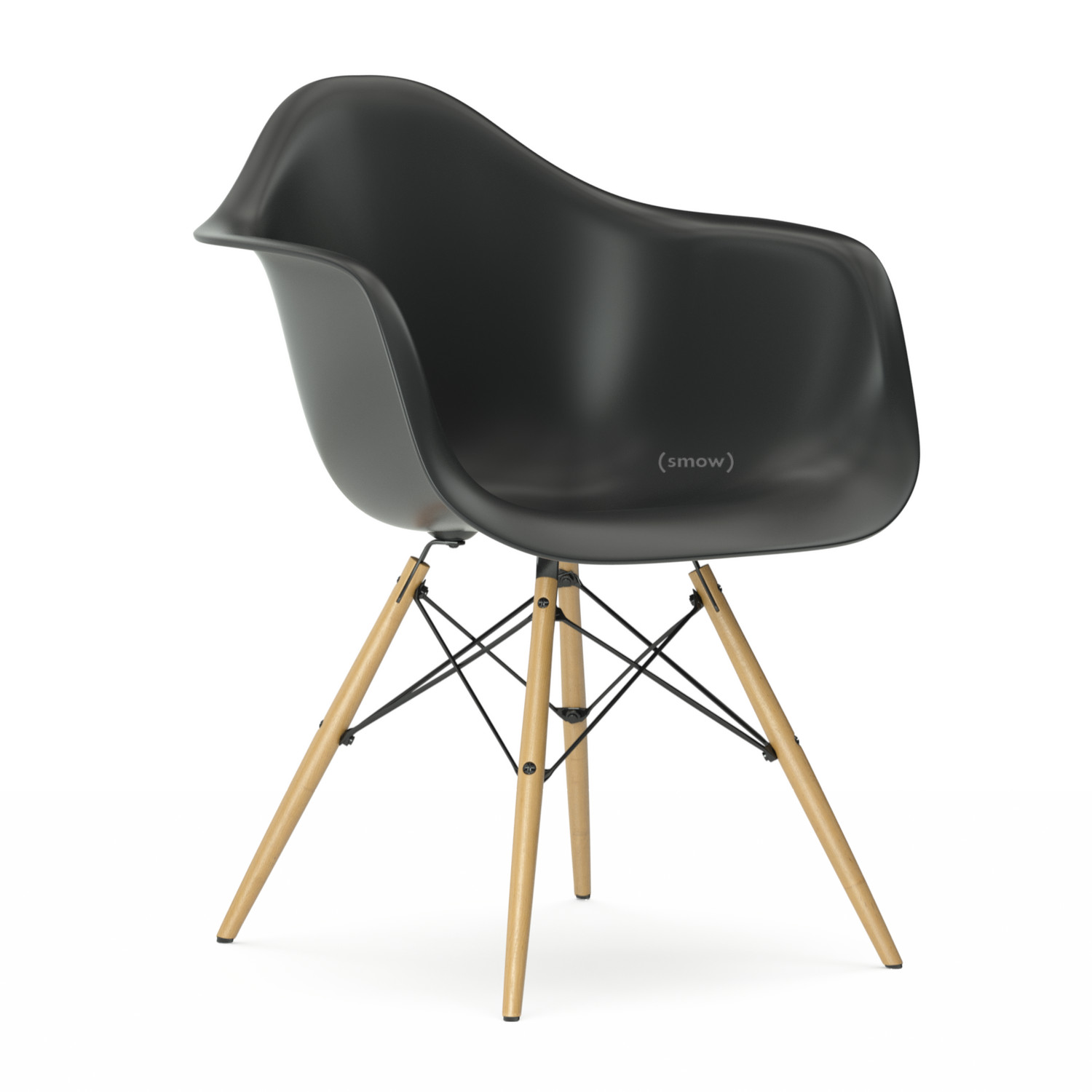 vitra eames plastic armchair daw basic dark without. Black Bedroom Furniture Sets. Home Design Ideas
