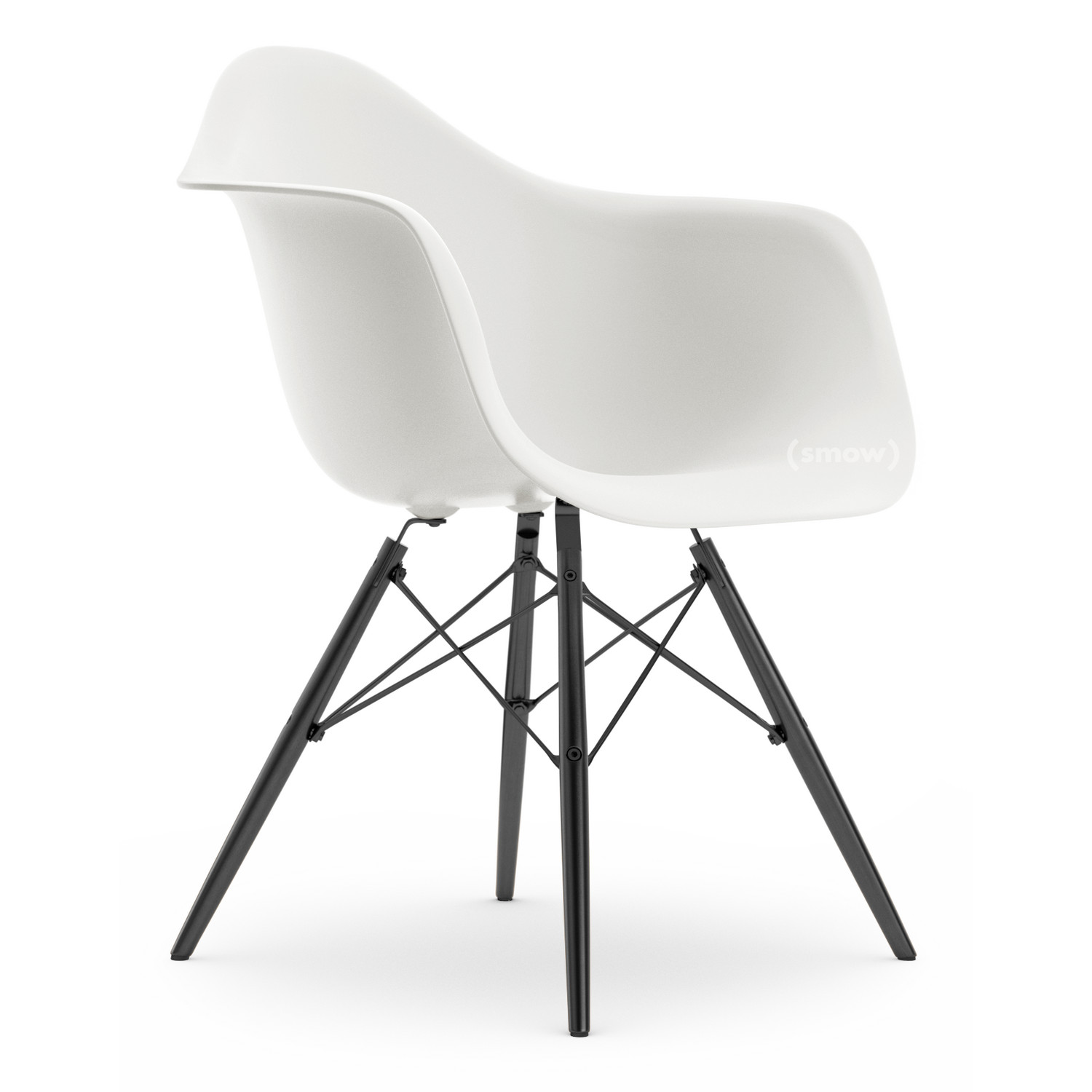 vitra eames plastic armchair daw white without upholstery without