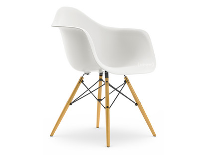 Eames Plastic Armchair : Vitra eames plastic armchair daw white without upholstery without