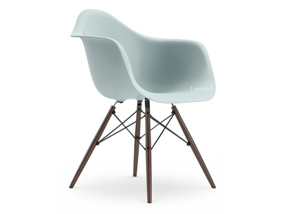 Eames Plastic Armchair DAW Ice Grey|Without Upholstery|Without  Upholstery|Standard Version