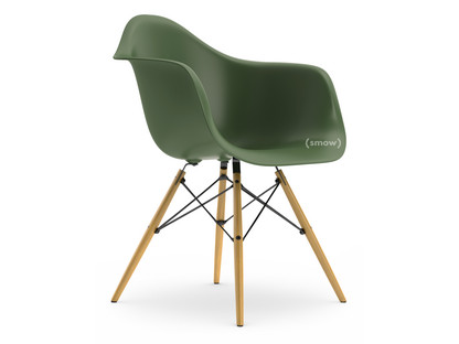 Eames Plastic Armchair DAW Forest|Without upholstery|Without upholstery|Standard version - 43 cm|Ash honey tone