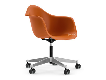 Eames Plastic Armchair PACC Rusty orange|Without upholstery|Without upholstery