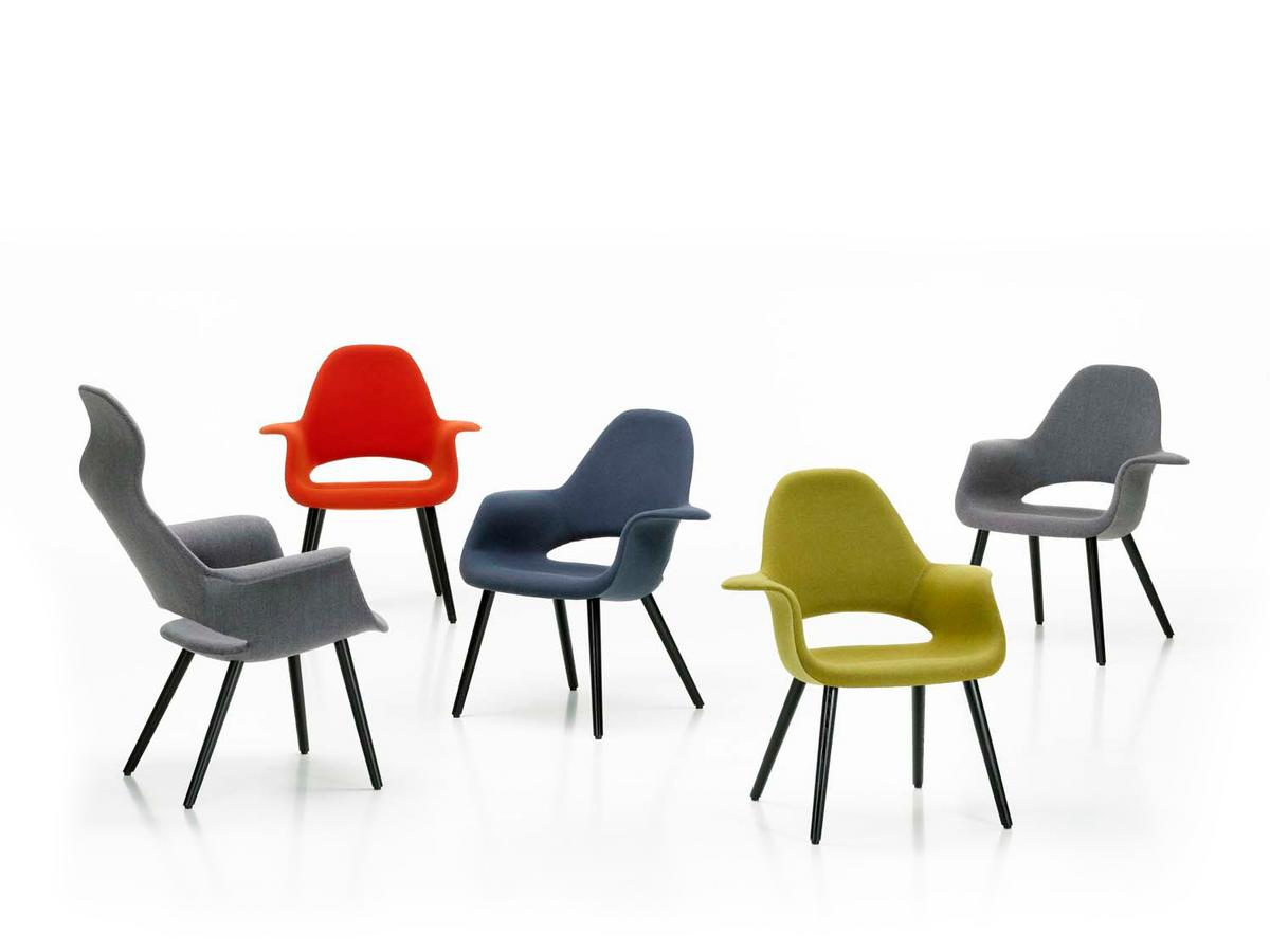 vitra organic chair by charles eames  eero saarinen   - click here for more images