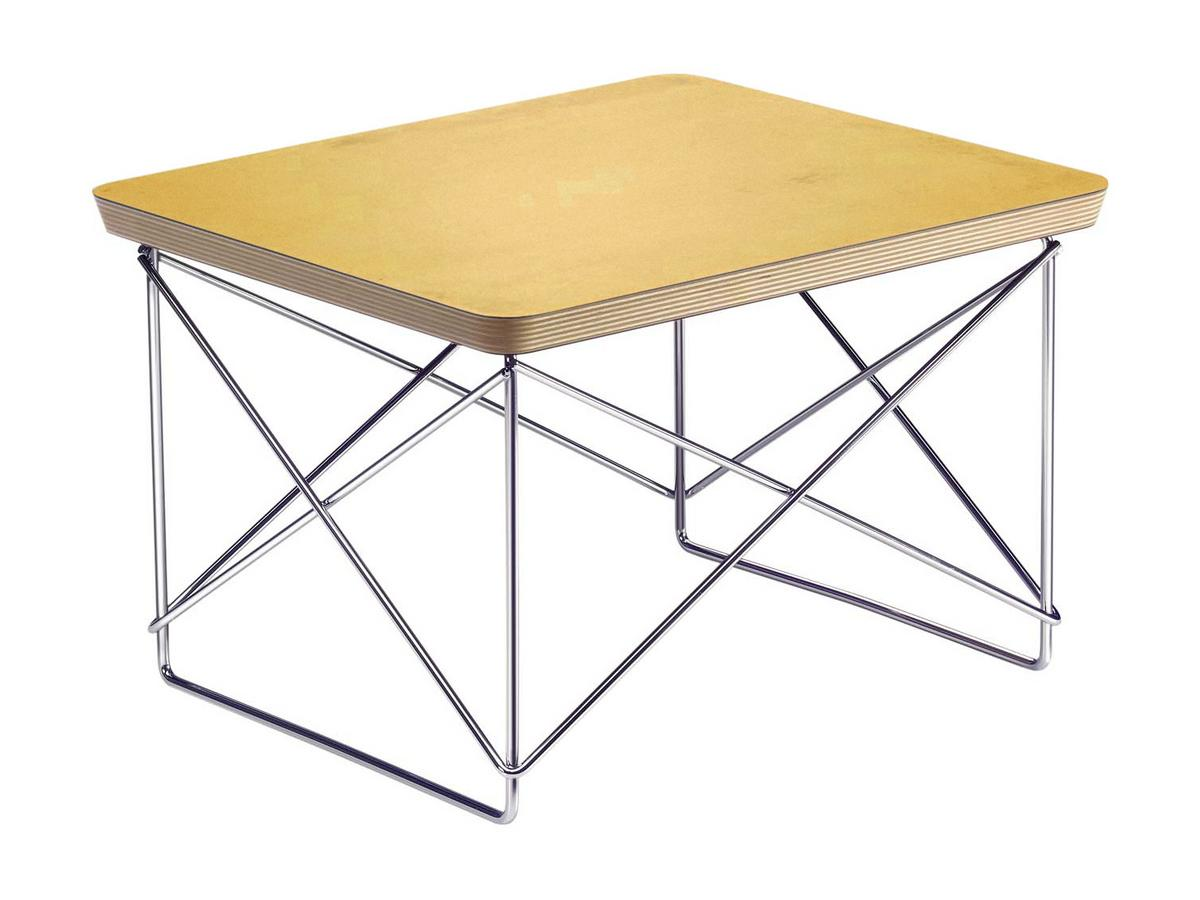 Vitra Ltr Occasional Table Hpl Gold Leaf Polished Chrome By