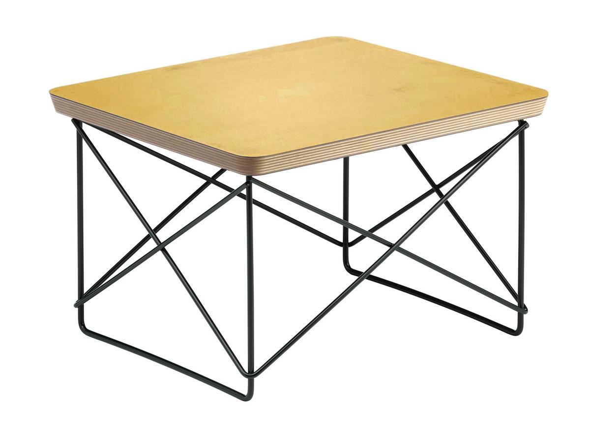 Vitra Ltr Occasional Table Hpl Gold Leaf Powder Coated Basic Dark