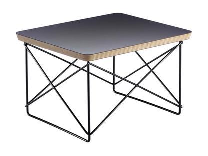 LTR Occasional Table HPL, Black|Powder Coated Basic Dark