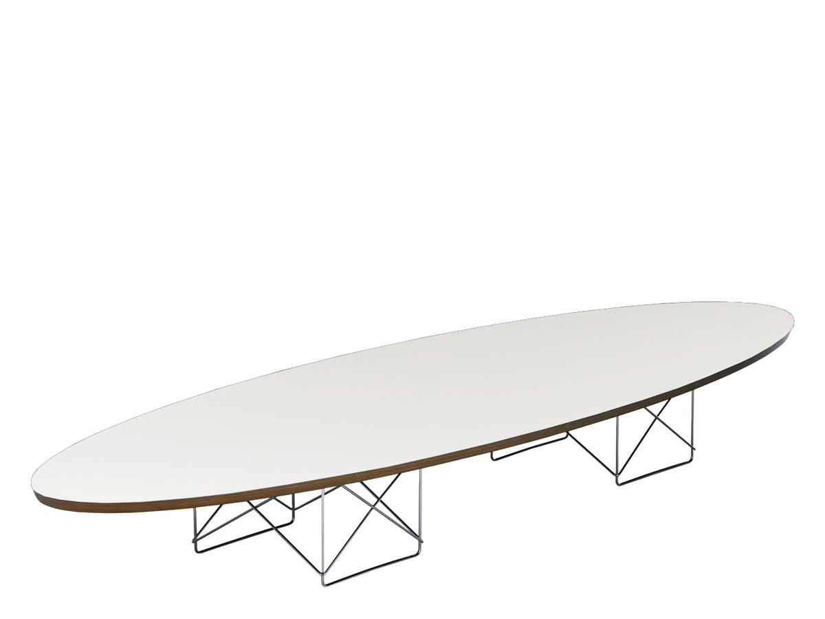 Vitra etr elliptical table rod base white by charles for Eames replica deutschland